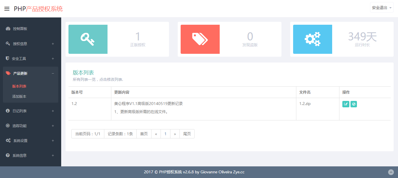 php产品授权系统